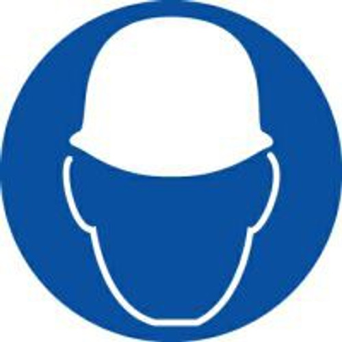 Wear Head Protection ISO Safety Sign
