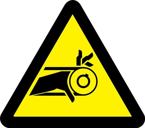 MISO320VP ISO Safety Sign- Belt Drive Entanglement Hazard Sign