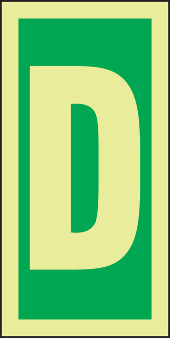 Letter D IMO Sign