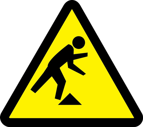 ISO Warning safety sign- Tripping hazard sign MISO332VP