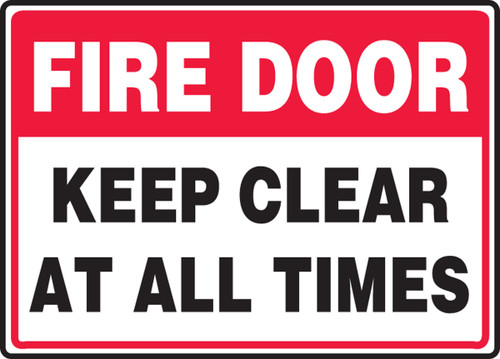 Fire Door Keep Clear At All Times