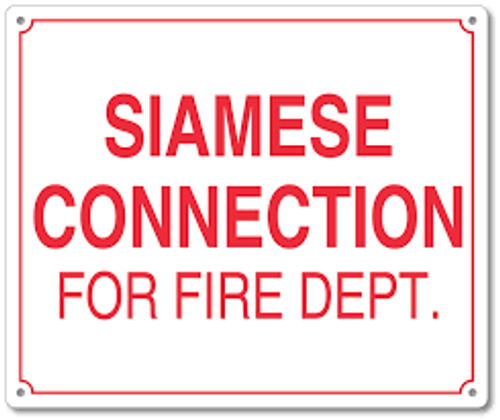 Siamese Connection For Fire Department