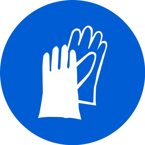 MISO106 ISO Mandatory safety sign- wear hand protection sign