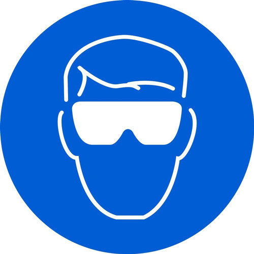 MISO100 ISO Safety Sign Wear Eye Protection Sign