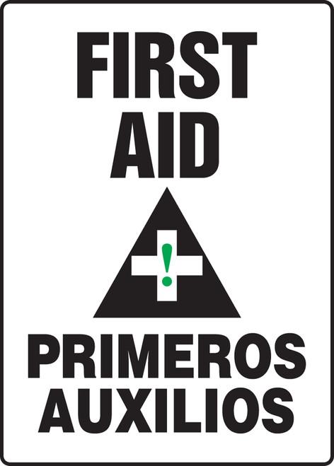 SBMFSR507VP Bilingual Spanish First Aid Sign