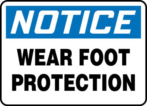 MEEA816VA Notice Wear Food Protection Sign