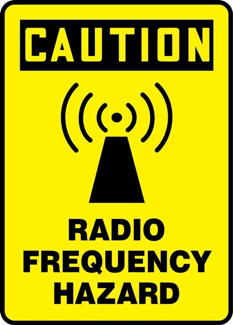 MRFQ617 Radio Frequency Hazard Sign