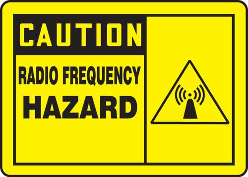 MRFQ602 Caution Radio Frequency Hazard Sign