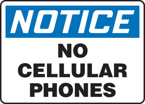 MRFQ827 Notice No Cellular Phones Sign