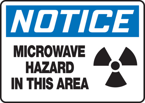 MRAD808 Notice microwave hazard in this area sign