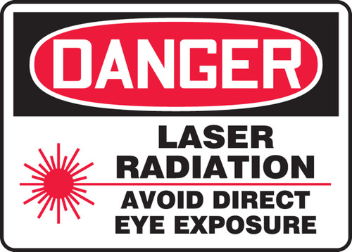MRAD004 Danger Laser Radiation Avoid Direct Eye Exposure Sign