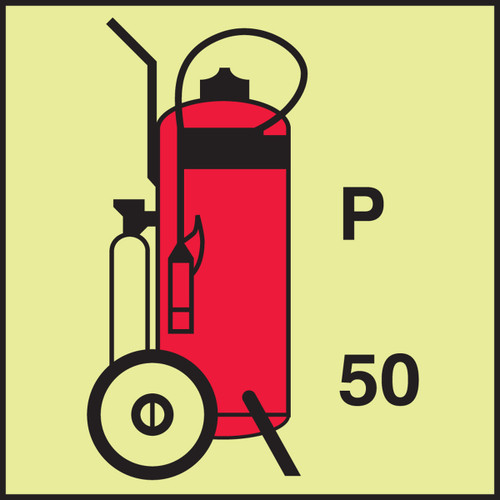 MLMR776  Wheeled fire extinguisher powder IMO Fire Control Sign