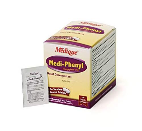 Medi Phenyl Tablets 20533 nasal decongestant