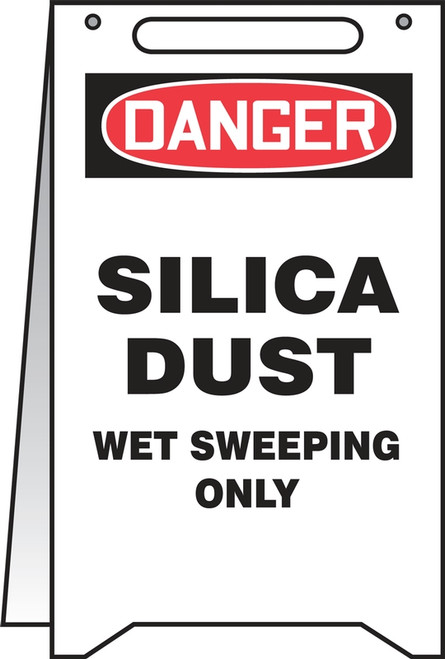 PFR122 Silica Dust Wet Sweeping Only Fold Up Sign