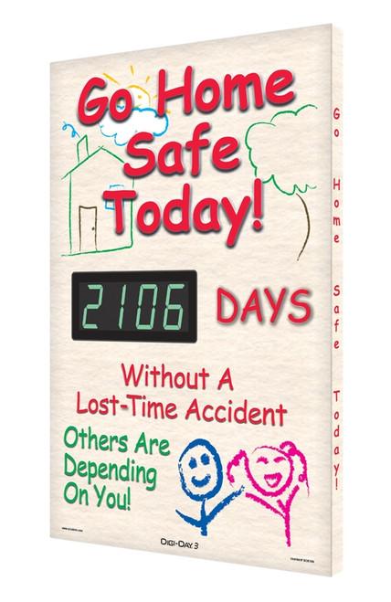 Digi Day 3 Electronic Safety Scoreboard Accuform SCK106