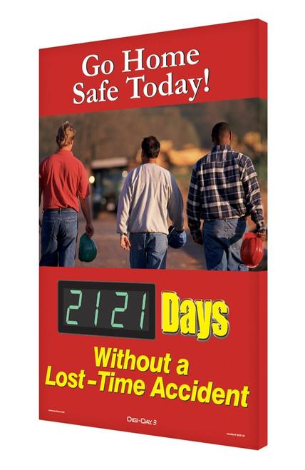 Digi Day 3 Electronic Safety Scoreboard Accuform SCK121