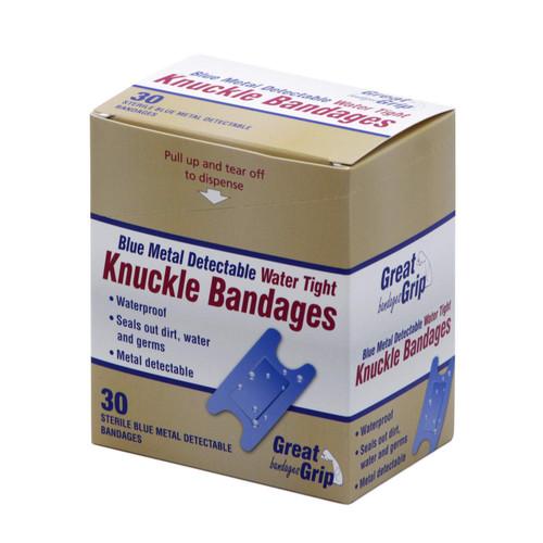 Blue Water Proof metal detectable Knuckle 40 per box