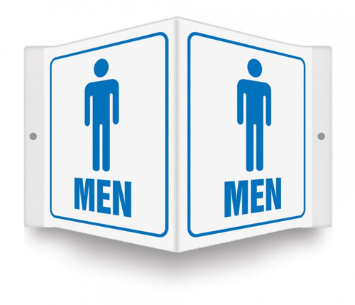 """MEN - 3D 6"""" x 5"""" - Safety Panel - Projection Sign"""