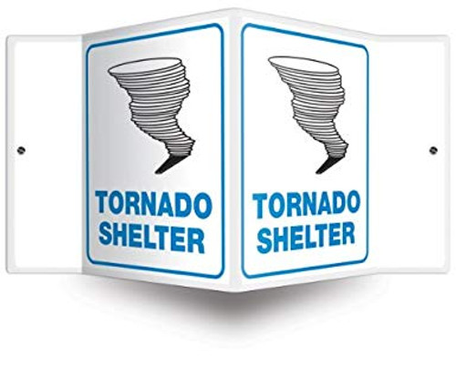 """Tornado Shelter - 3D 6"""" x 5"""" - Safety Panel - Projection Sign"""