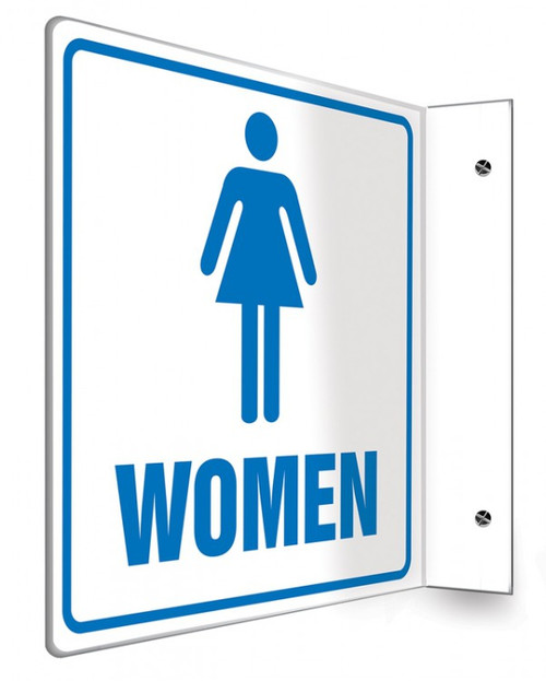 "Women - 90D 8"" x 8"" - Safety Panel - Projection Sign"