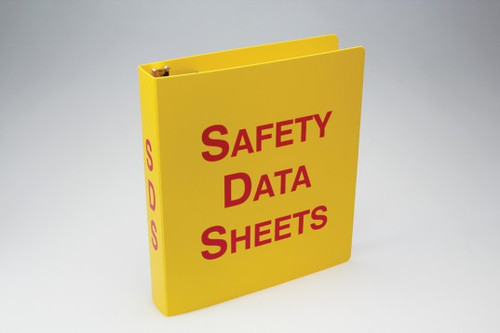 SDS Binders and Signs: Plastic SDS Binders
