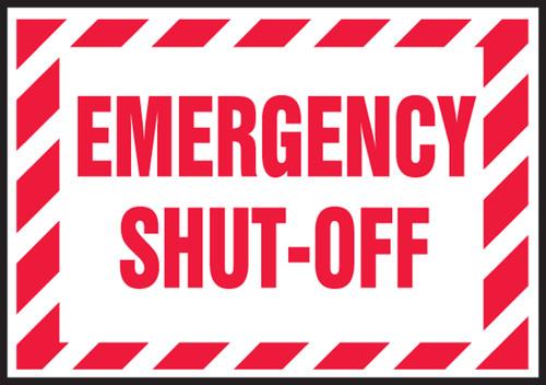 Electrical Safety Label: Emergency Shut-Off