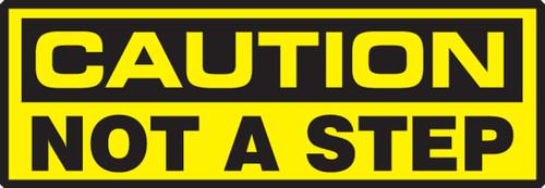 OSHA Caution Safety Label: Not A Step