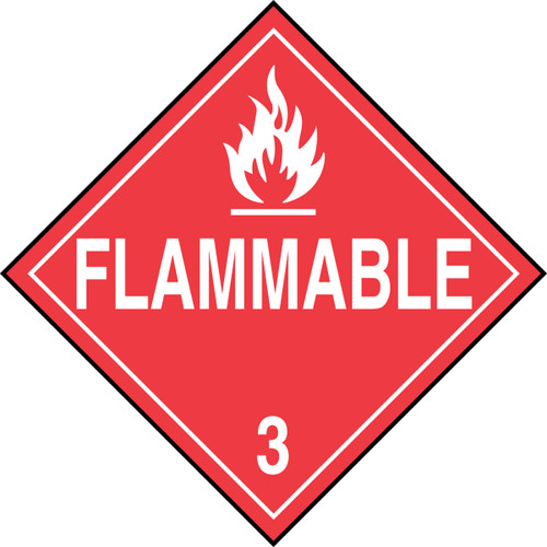 DOT Placard: Hazard Class 3 - Flammable Liquids (Flammable)