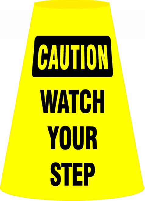 Cone Cuff™ Sleeves: Caution - Watch Your Step
