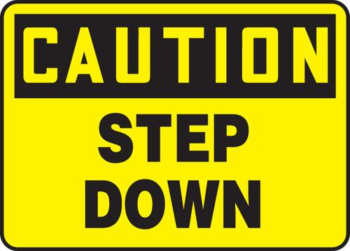 OSHA Caution Safety Sign: Step Down