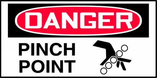 OSHA Danger Equipment Safety Label: Pinch Point