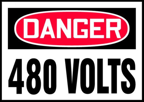 OSHA Danger Safety Label: 480 Volts