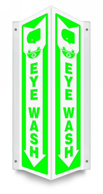 Projection™ Safety Sign: Eye Wash