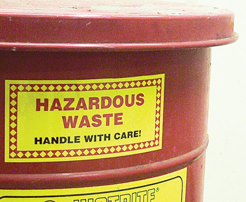 Hazardous Waste Label: Hazardous Waste (Chemical Properties)