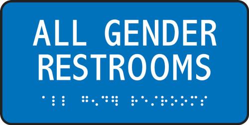 ADA Braille Gender-Neutral Sign: All Gender Restrooms