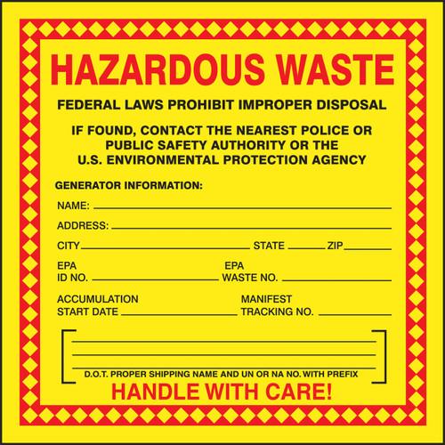 Safety Labels: Hazardous Waste