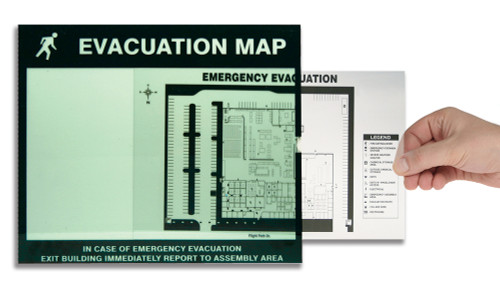Emergency Evacuation Signs Map Holders: In Case Of Emergency