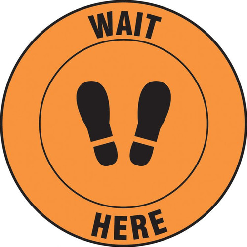 Slip-Gard Floor Sign: Wait Here