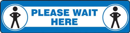 """Slip-Gard Floor Sign: Please Wait  - 6"""" x 24"""" - Safety Sign"""