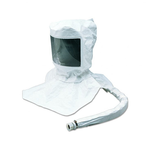 Allegro 9911-C Maintenance Free Tyvek Hood CF SAR Assembly w/ Susp. & Personal Air Cooler w/ Hansen Fitting