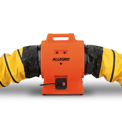 "Allegro 9539-08I 8"" Axial AC Industrial Plastic Booster Blower"