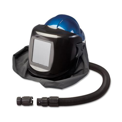 Allegro 9904-DWB Deluxe SAR Shield & Welding Helmet w/ Low Pressure Flow Adapter (OBAC Fitting), #10 Lens