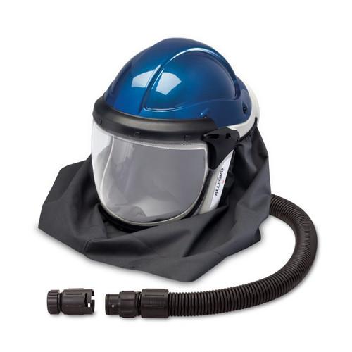 Allegro 9904-HC Deluxe Supplied Air Shield  Helmet with High Pressure Air Temperature Controller (Hansen Fitting)