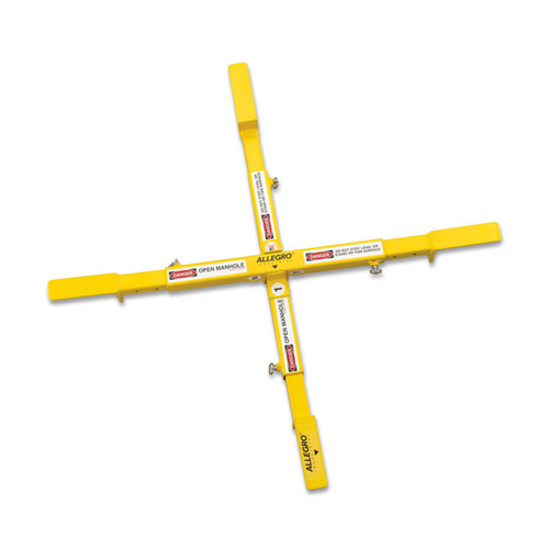 """Allegro 9406-24A Adjustable Manhole Safety Cross, Small, 18"""", 21"""", 24"""""""