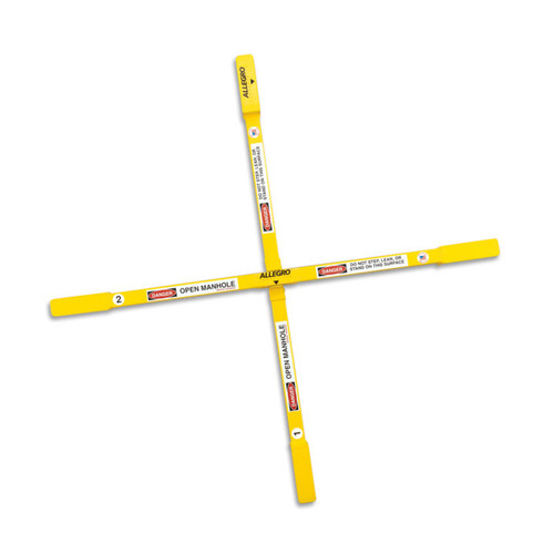 "Allegro 9406-36A Adjustable Manhole Safety Cross, Large, 26"", 30"", 36"""
