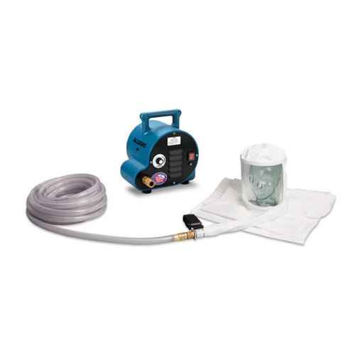 Allegro 9222-01A One-Worker Double Bib Hood Breathing Air Respirator System, 50' Airline Hose