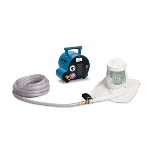 Allegro 9221-02A Two-Worker Single Bib Hood Breathing Air Respirator System, 50' Airline Hoses
