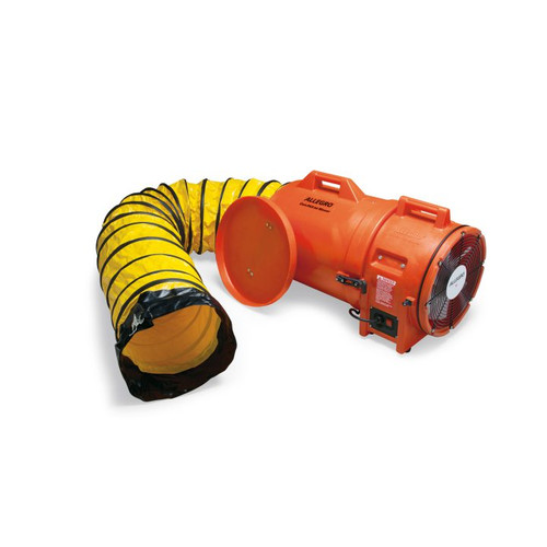 """Allegro 9543-15E 12"""" Axial AC Plastic Blower w/ Canister & 15' Ducting, 220V/50 Hz"""