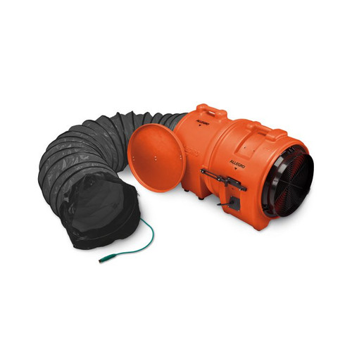 """Allegro 9558-15 16"""" Axial Explosion-Proof (EX) Plastic Blower w/ Canister & 15' Ducting"""