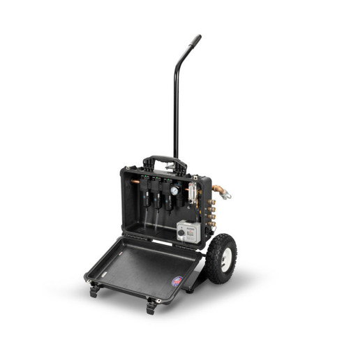 Allegro 9874-EFC 4-Worker Breathing Air Filtration Panel Cart